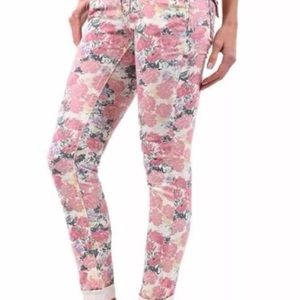 Miss Me Pink/Rose and Purple Floral Jeans